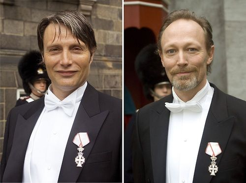 Lars and Mads were both knighted by the Queen...   ♛