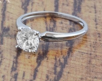 2.50 CT Engagement Ring Round Cut Halo Solid 14k or 18k by Zhedora