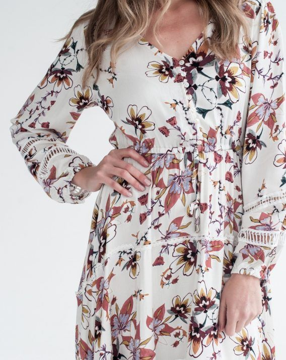 Vanilla Print Dune Dress - Blossom & Glow