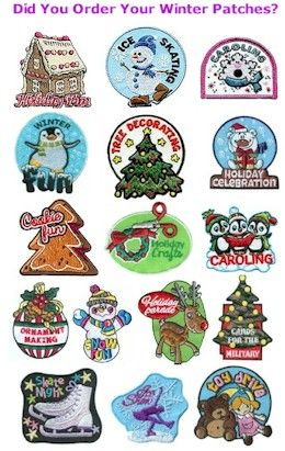 Winter Girl Scout Fun Patches. Just $.69 with a flat rate shipping of $4.00. Check out Makingfriends.com for them all!