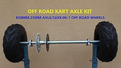 Go Kart Buggy Atv Quad Bike Project 25mm 850mm Axle Kit 7 inch off road  wheels