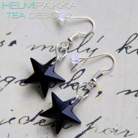 Isot Swarovskin tähdet, musta