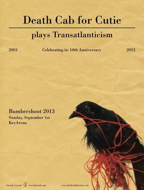 great tattoo idea...transatlanticism cover art | Transatlanticism Poster Death cab for cutie {sunday}