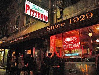 John's Pizzeria at Bleecker Street in New York