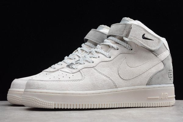 Reigning Champ x Nike Air Force 1 Mid Wolf Grey Men s Shoes-4 4c85c612ac75