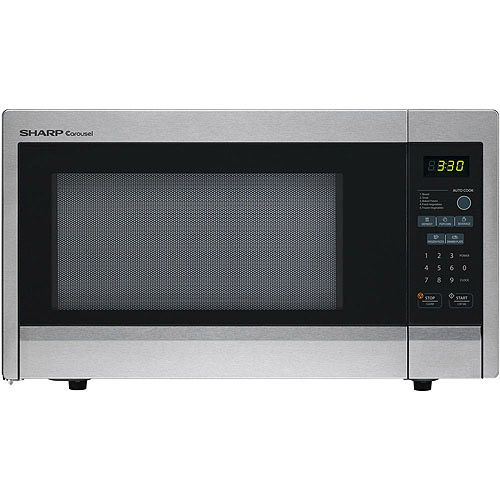 Cooking is fast, easy and worry-free with the Sharp Carousel Stainless Steel Countertop Microwave. This Sharp Carousel Countertop Microwave 1000-Watt-features 11 power levels, five auto-cook options, four one-touch cook options and a time/weight defrost function. The Sharp Carousel Microwave Oven, 1.1 Cu Ft, assures thorough and even cooking, and the child-safety lock keeps little ones safe. With the Sharp Carousel Stainless Steel Countertop Micr * Check this awesome product by going to the…