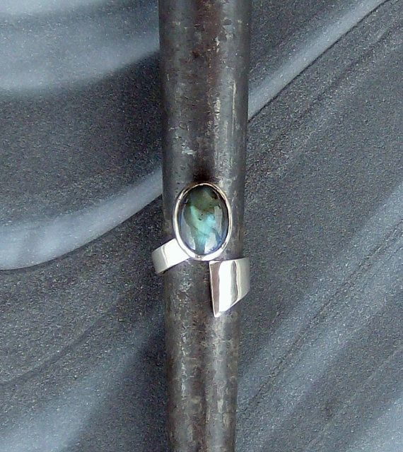Labradorite Sterling Silver Wrap around by StudioLsquared on Etsy