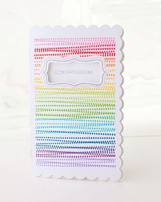 Rainbow!  Jeannette Lynton wow!: Cards Ideas, Crafts Ideas, Border Stamps, Colors Combinations, Cards Close, Rainbow Card, Rainbows Cards, Congratulations Cards, Rainbows Stamps