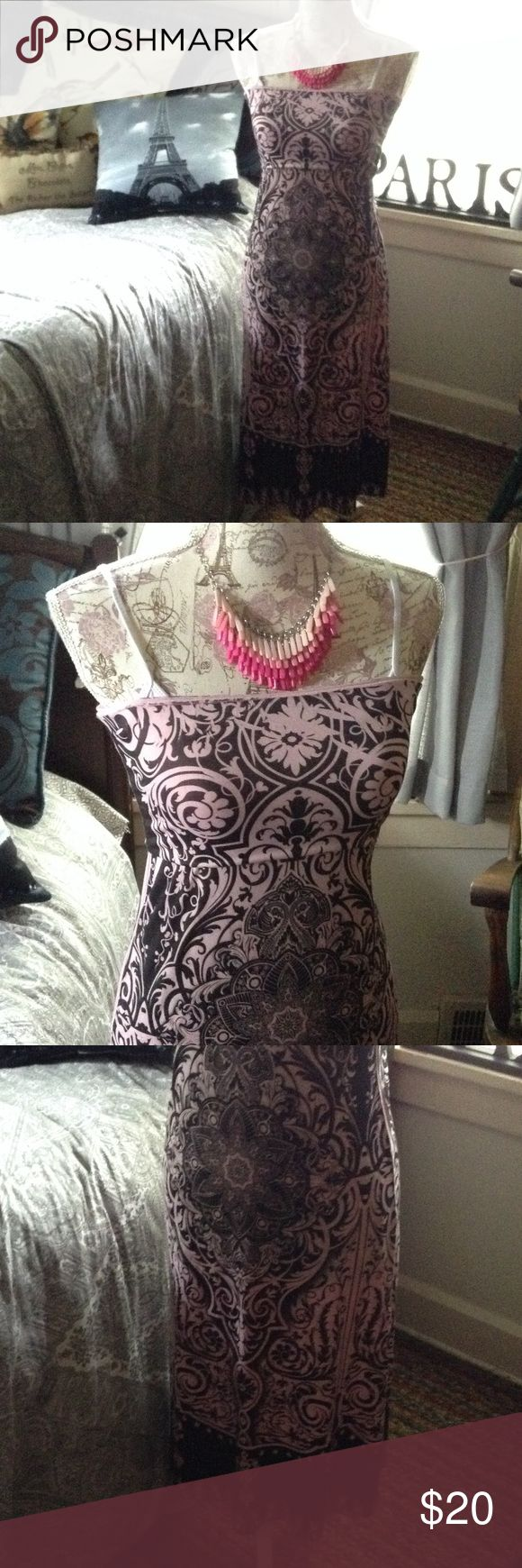 🆕 Strapless Tube Top Dress or Skirt💞✈️🏖🚢 BRAND NEW! Pretty Pink and Black Indian Boho Print Tube Dress. Can be Worn as a Skirt, also. Perfect for Travel! Casa Lee Brand Size Small Casa Lee Dresses
