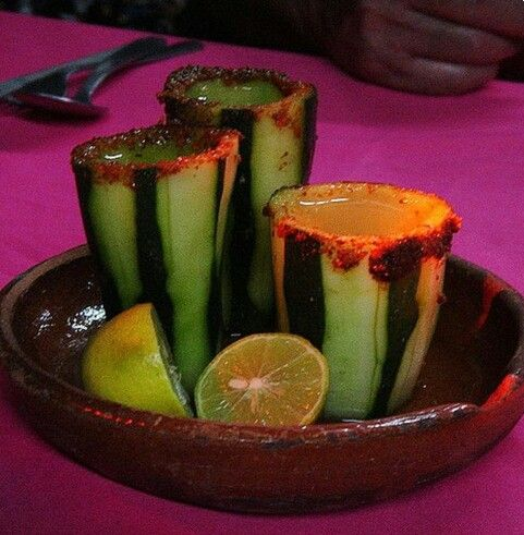 Pepino con tequila
