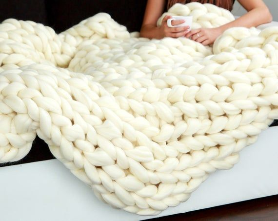 Chunky Knit Blanket Giant Knit Blanket Cozy Throw Blanket