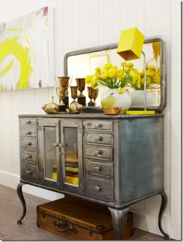 .: Paintings Furniture, Sarah Richardson, Metals Paintings, Decoration, Color, Yellow Bedrooms, Dressers, Metals Cabinets, Yellow Accent