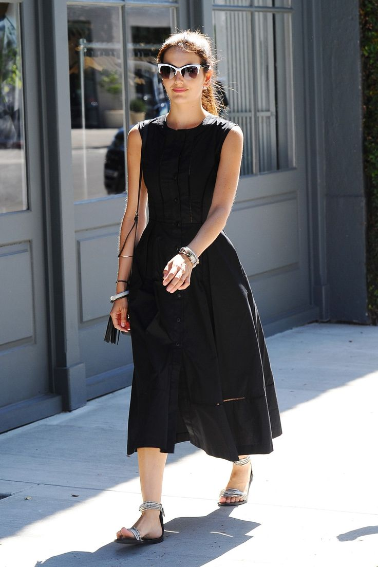 Daily Style Directory - Camilla Belle in a black summer dress. Click through to see who joins her in this week's best-dressed list