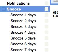 Create a snooze button for your gmail