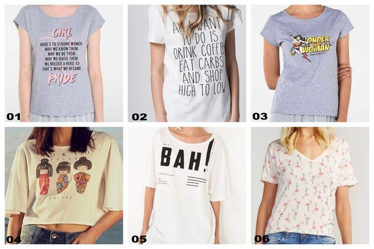 As T-shirts ou camisetas, nunca estiveram tão na moda como agora e podem ser usadas nas mais diversas ocasiões. Usar t-shirt é sinônimo de muito estilo e criatividade. São muitas estampas e frases divertidas. Vem ver os modelos lindos que selecionamos! 01: T-Shirt Tonight Rosa Chápor R$298,00 02:Camiseta Keep Your Head Up Riachuelo por R$29,90 03:Camiseta Glitter Os Simpsons Riachuelo…