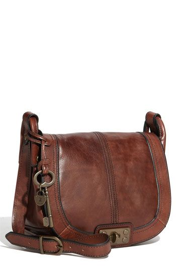 Fossil Leather Crossbody Bag- Can't go wrong with a classic leather bag