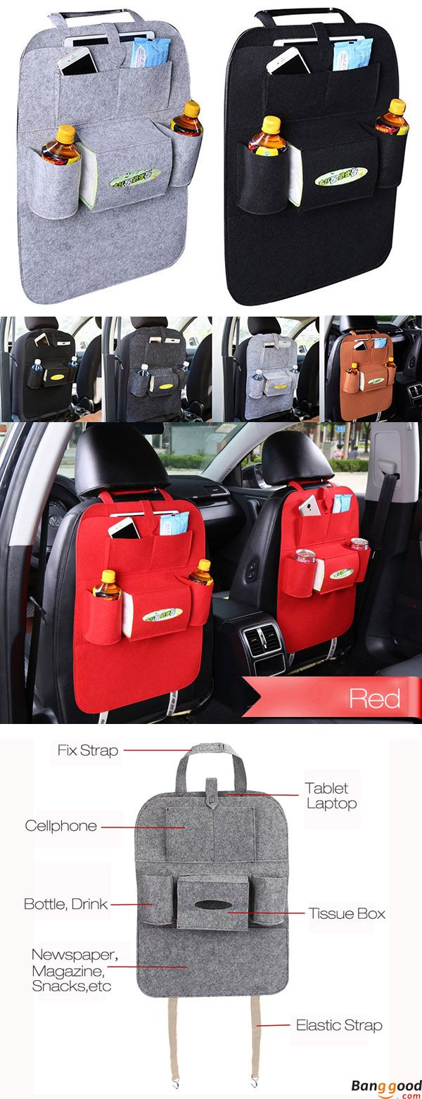 US$8.99+Free shipping. Car Back Seat Organizer. 7 colors available. It could fit most vehicles and be made of felt cloth material. No more car in a mess! Shop Now.