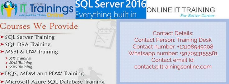 You are looking for customized inperson SQL Server training for a private group, a public online SQL Server class you can join,  you can start immediately, It trainings Online