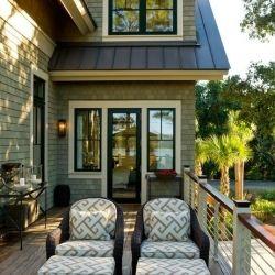 bring black window trim into your home & onto the exterior of your home  {via HGTV}