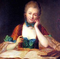 Inconnu, portrait de madame Du Châtelet à sa table de travail, détail (château de Breteuil)  a French mathematician, physicist, and author during the Age of Enlightenment. Her crowning achievement is considered to be her translation and commentary on Isaac Newton's work Principia Mathematica. The translation, published posthumously in 1759, is still considered the standard French translation.