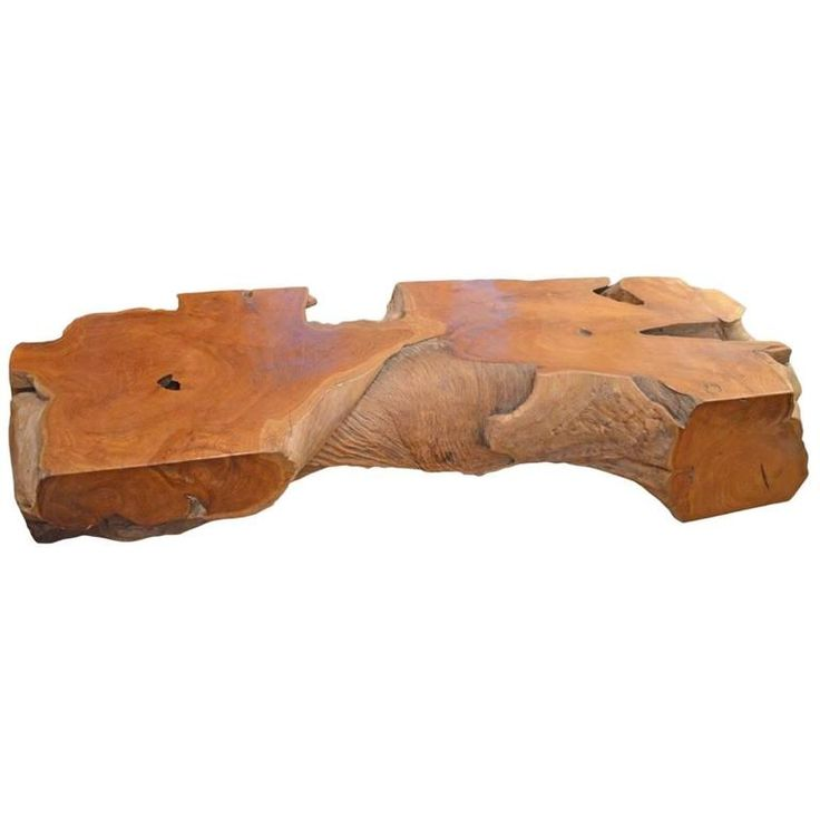 Natural Teak Wood Coffee Table or Bench For Sale at 1stdibs