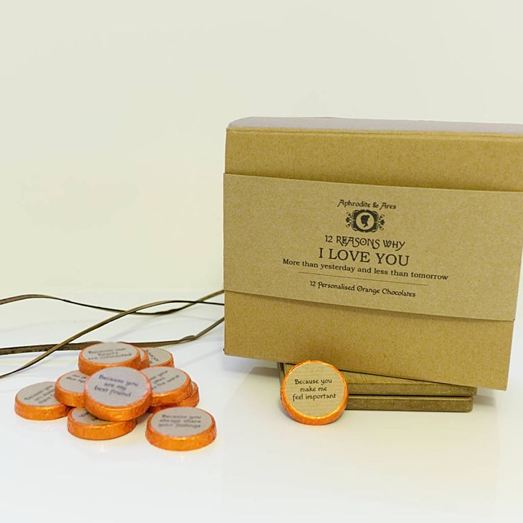12 reasons why i love you personalised chocolates gift by aphrodite & ares | notonthehighstreet.com
