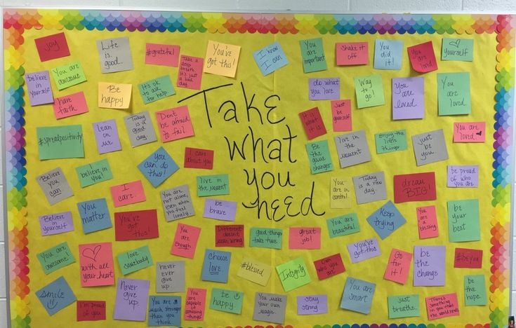 My Hallway Bulletin Board...I've refilled it 3 times so far this year! Take What You Need