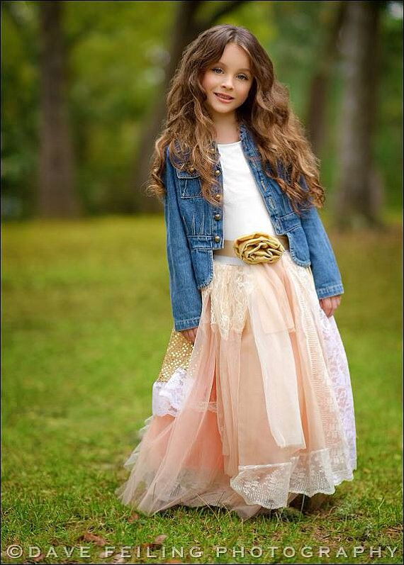 Girls+Gold+and+Peach+Holiday+Fancy+Dress+by+chachalouise+on+Etsy,+$105.00.  girls fashion and style.  kids outfits.  formal wear.  boho.