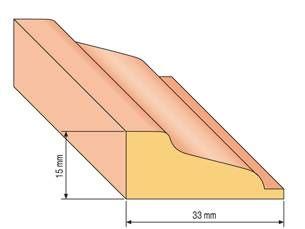 68 korun za metr, 132 za dva metry LIŠTA PROFIL 31 - dub
