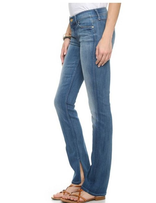 NWT Mother Slit Ankle Rascal Slim Straight Leg Stretch Jean –Wicked Games Blue  #motherdenim #StretchslithemankleWhiskeringfadinghipsthighsStraightLeg
