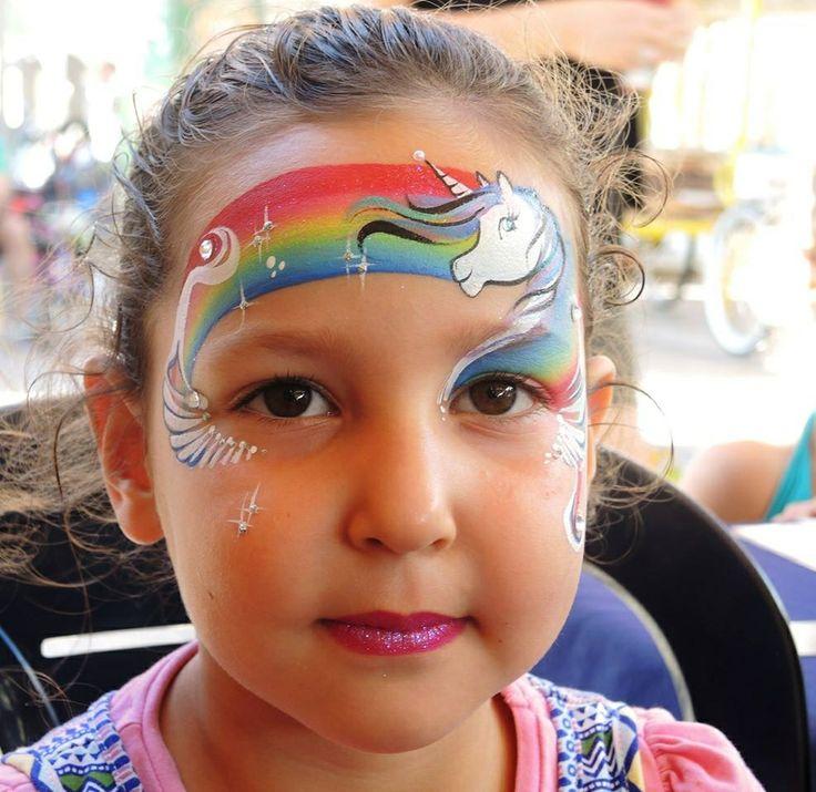 Rainbow Face Painting Carnival Paint Ideas Pinterest