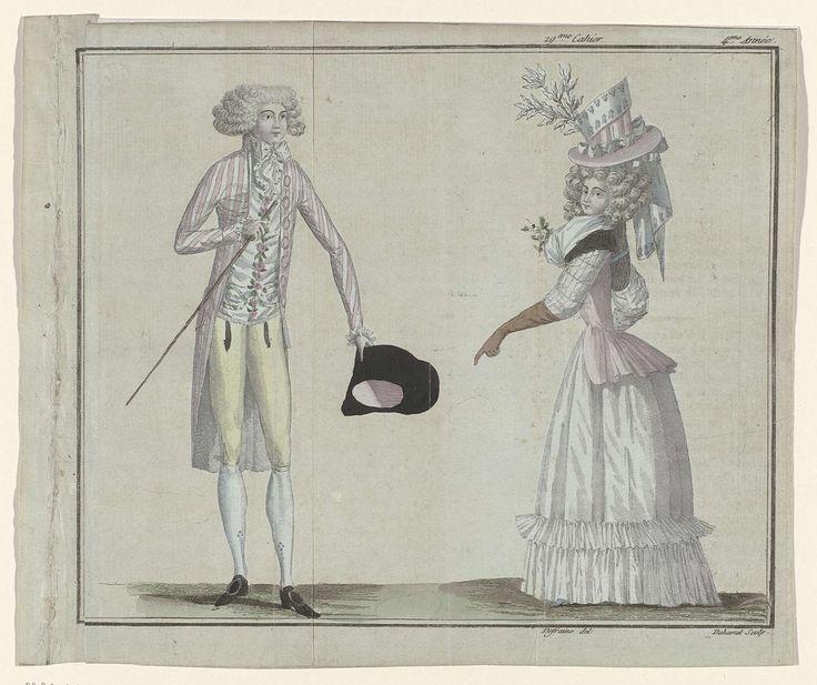 Magasin des Modes Nouvelles Françaises et Anglaises, 1 juin 1789, Pl.  2, 3, A.B. Duhamel, Buisson, 1789