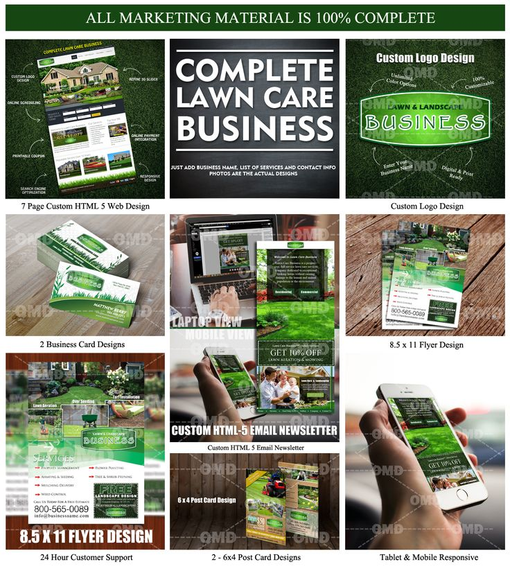 Complete Lawn Care Business. Everything from Websites, Door Hanger, Direct Mailers and Flyers. by The Lawn Market