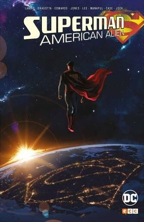 ¿Quién es Clark Kent y cómo llegó a serlo? Desde su infancia en Smallville, entre los maizales de Kansas, hasta una de sus más épicas batallas en Metropolis, Superman: American Alien relata siete momentos decisivos en la vida del Hombre de Acero gracias al talento del famoso guionista cinematográfico Max Landis (Chronicle).  En el vertiginoso viaje acompañan al héroe personajes que a menudo lo han hecho (los Kent, Pete Ross, Lex Luthor o Lois Lane) y otros mucho más inusuales (Abin Sur