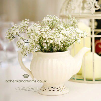 teapots for flowers www.bohemiandreams.co.uk