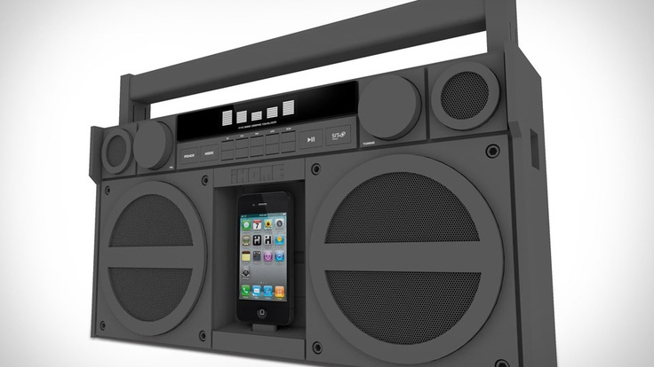 iHome iP4 Boombox $200: Old Schools, Gadgets, Gifts Ideas, Ipod, Ihom Ip4, Ip4 Boombox, Matte Black, Boom Boxes, Stereo Boombox