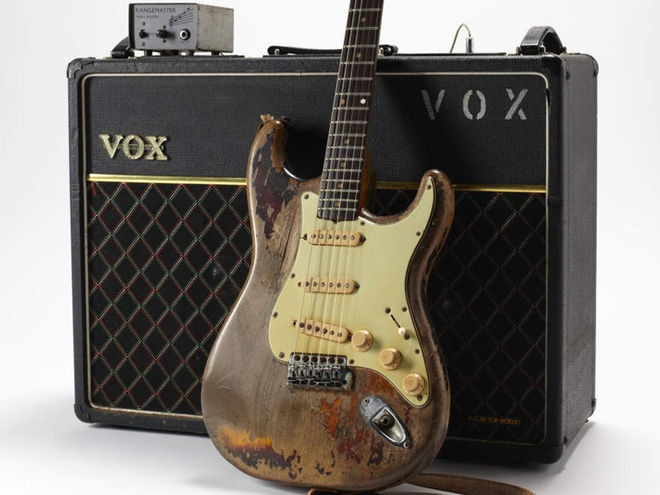 Rory Gallagher's 1961 Fender Stratocaster, Vox AC30 and Rangemaster treble boost