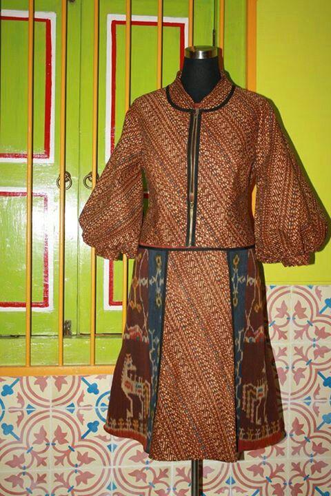 Dress tenun sumba +batik lawas