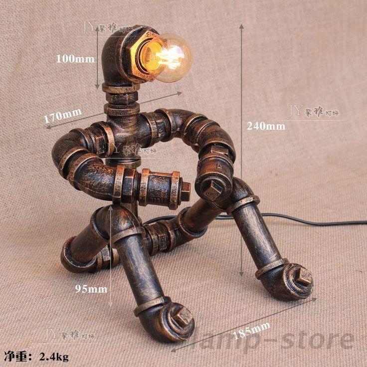 Новый стимпанк робот стола настольная лампа трубка мыслитель E27 легкий домашний чтение освещение | Дом и сад, Освещение и потолочные вентиляторы, Светильники | eBay!