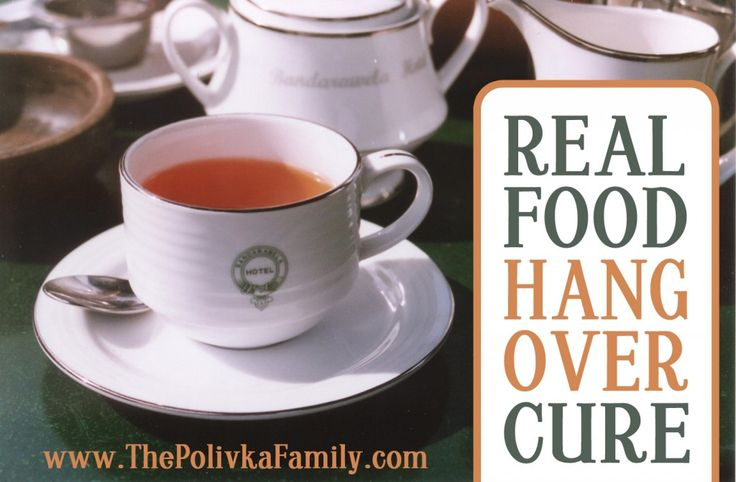 Real Food Hangover Cure (Anti-Inflammation Tea) - The Polivka Family / http://www.thepolivkafamily.com/2013/06/real-food-hangover-cure/