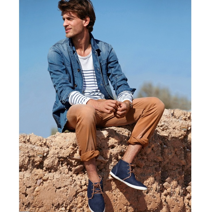 Active Wear | Straight Cut Faded Look Cotton Trouser