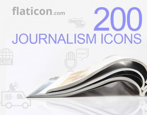 Бесплатные иконки журналистской тематики и плоские иконки универсального назначения