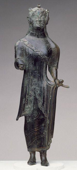 Statuette of a standing maiden [Etruscan] (17.190.2066)   Heilbrunn Timeline of Art History   The Metropolitan Museum of Art