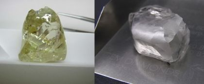 Southern African countries keep producing giant diamonds! These two beauties were both mined in Lesotho recently.