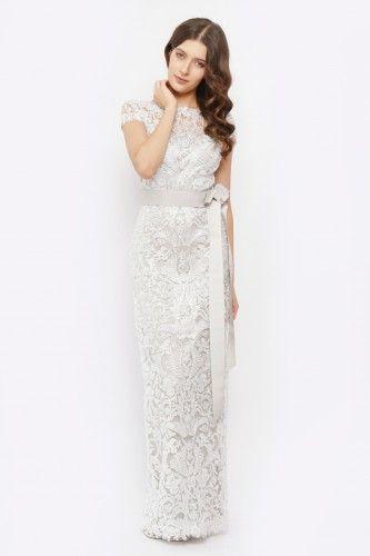 aaaee1ecc1 ALX1209LZ Sukienka wieczorowa srebrna
