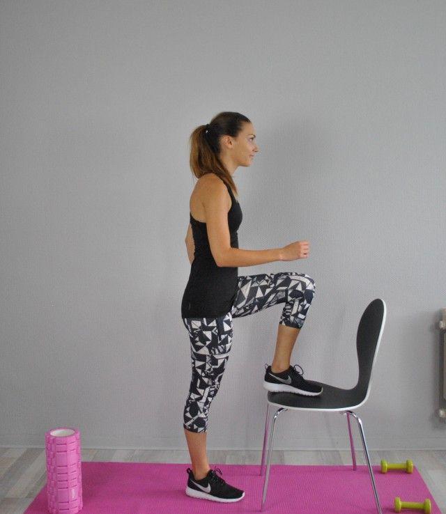 Exercices A Faire A La Maison Avec Une Chaise Exercice Sport Exercices A Faire A La Maison Exercices Quadriceps