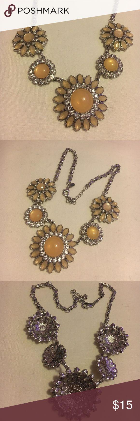 Lia Sophia necklace Beautiful lia Sophia yellow and off white colored necklace!CYBER MONDAY DEAL $10 Lia Sophia Jewelry Necklaces