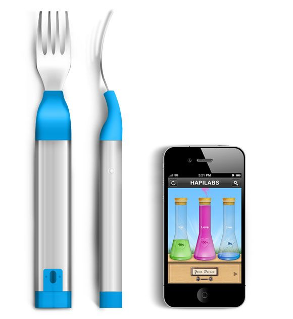 For all those diet-resolutions: HAPIfork is a digital fork that tracks your eating habits