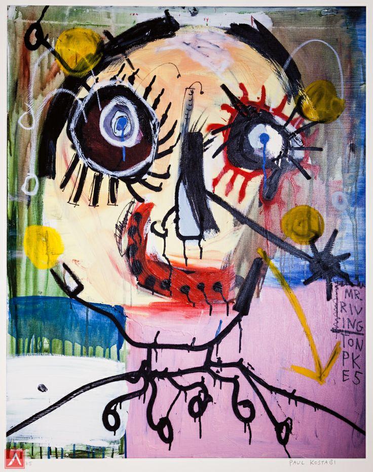 "Paul Kostabi: ""Mr. Rivington"" (2012) is a handsigned & numbered gliclée."