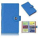 #7: Sumnacon カードホルダー PUレザー 大容量 150個スロット ブック型 カード、名刺入れ ケース ビジネス レディース メンズ カジュアル (ブルー)